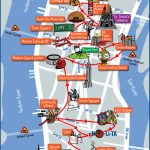 Tourist Map Of New York City Attractions, Sightseeing, Museums   Map Of Nyc Attractions Printable