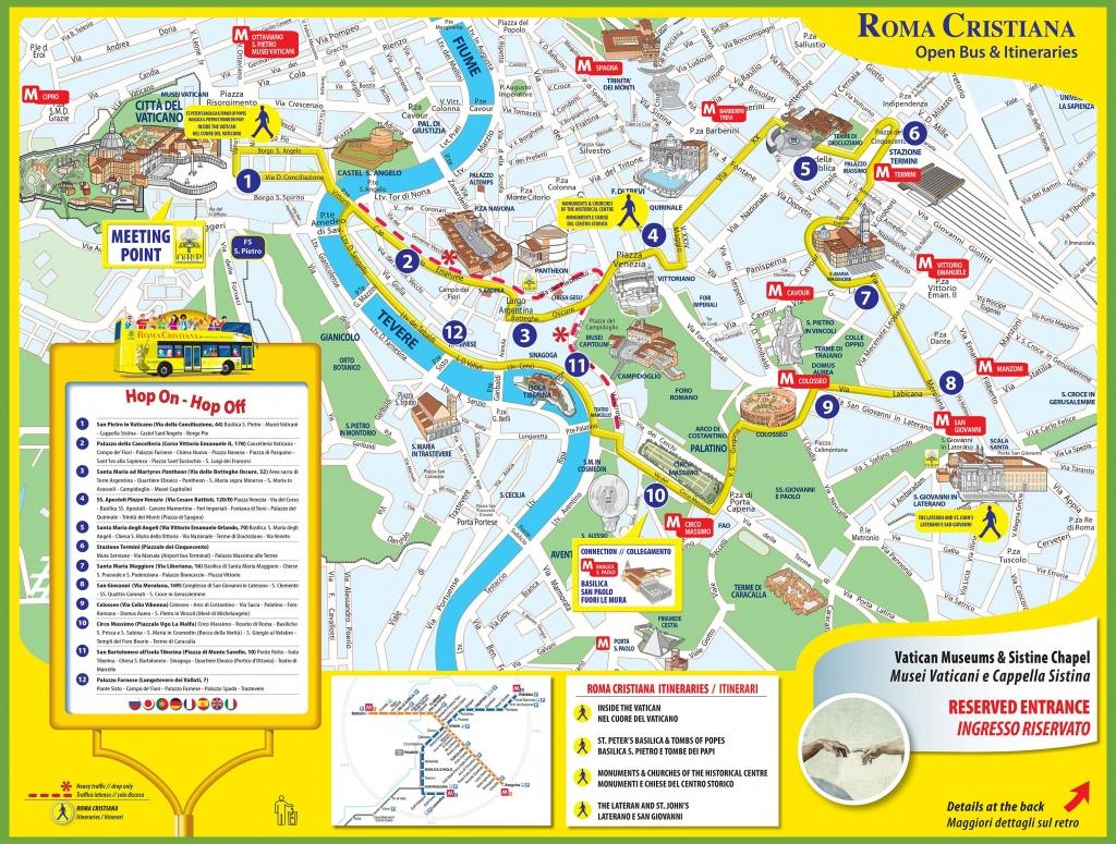 Tourist Map Of Rome City Centre - Street Map Rome City Centre Printable