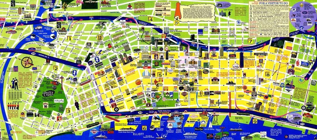 Tourist Map Of Seattle   Below Is My Favorite City Tourist Map And A - Seattle Tourist Map Printable