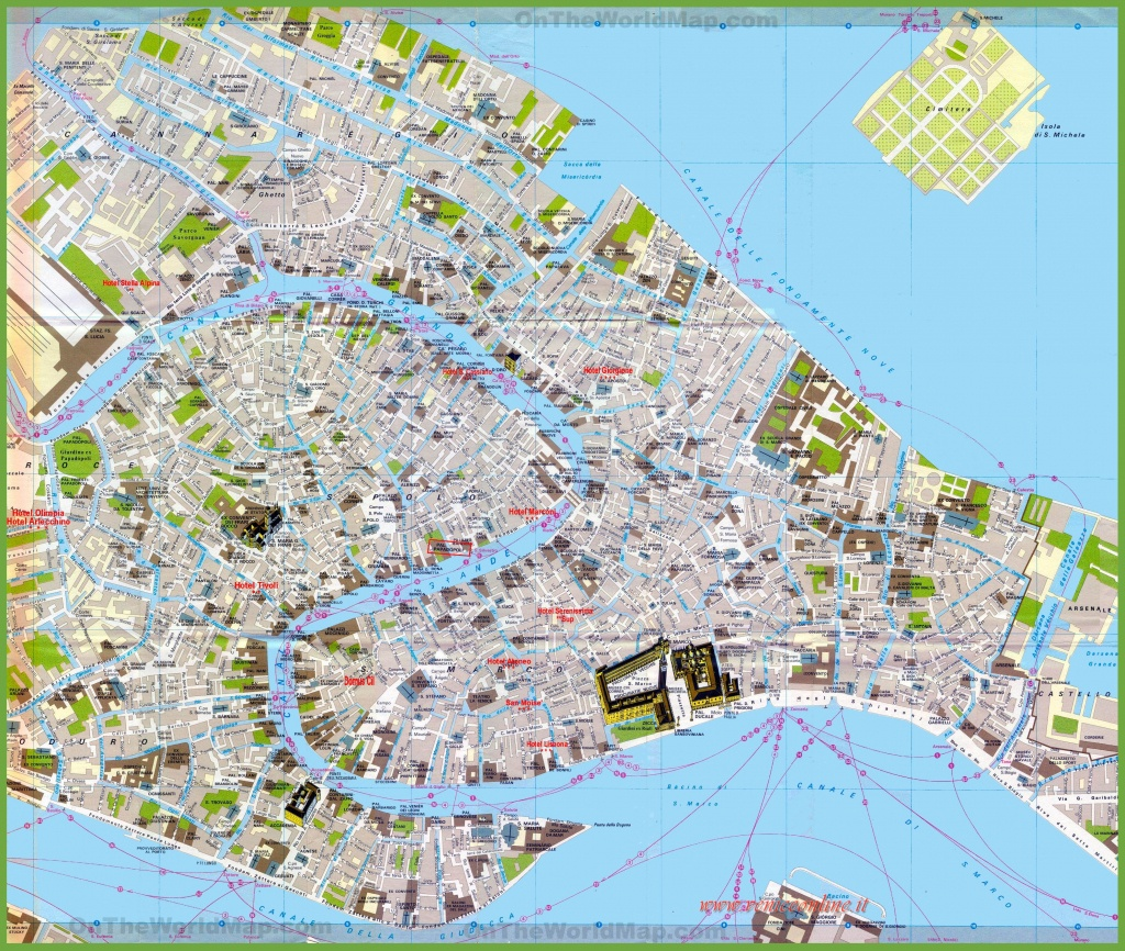 Tourist Map Of Venice City Centre - Venice City Map Printable