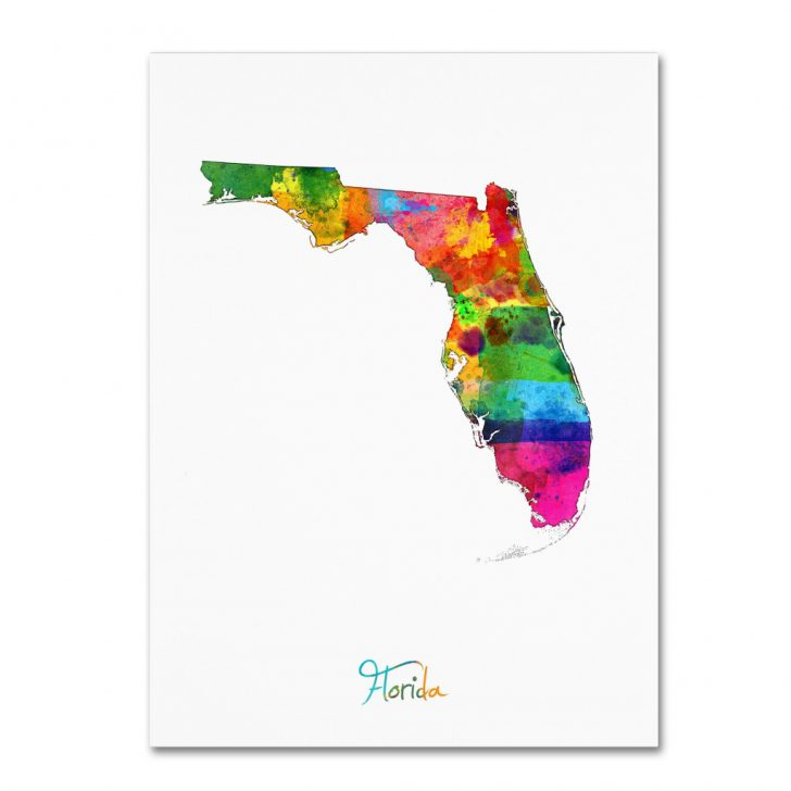 Map Of Florida Art