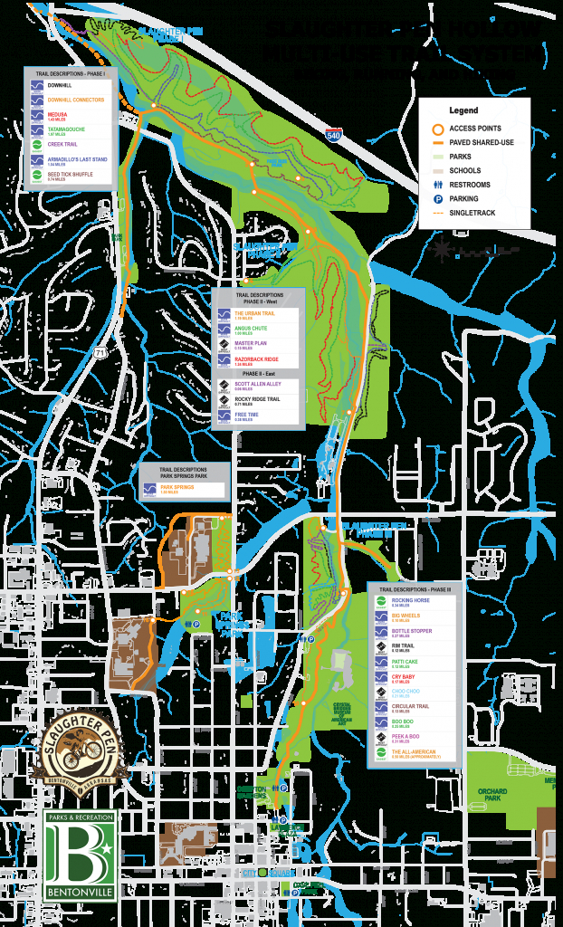 Trails - Friends Of Arkansas Single Track - Razorback Greenway Printable Map