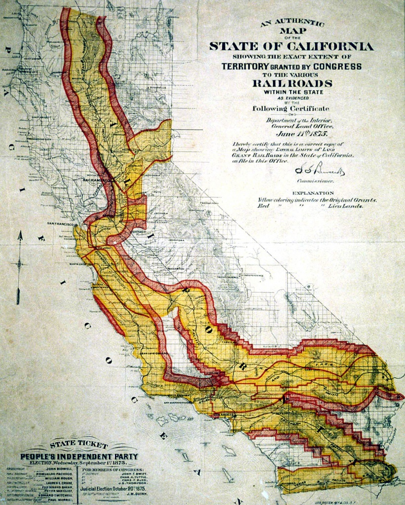 Transcontinental Railroad Maps - California Rail Pass Map