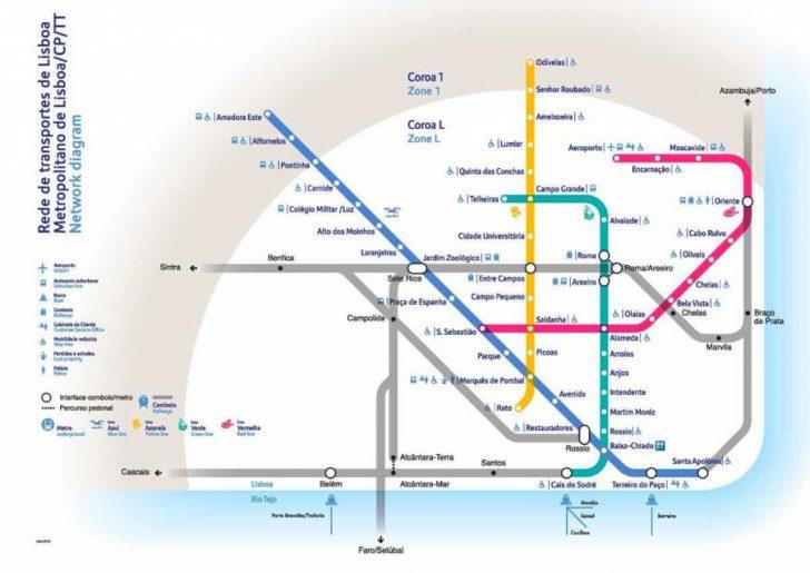 Lisbon Metro Map Printable