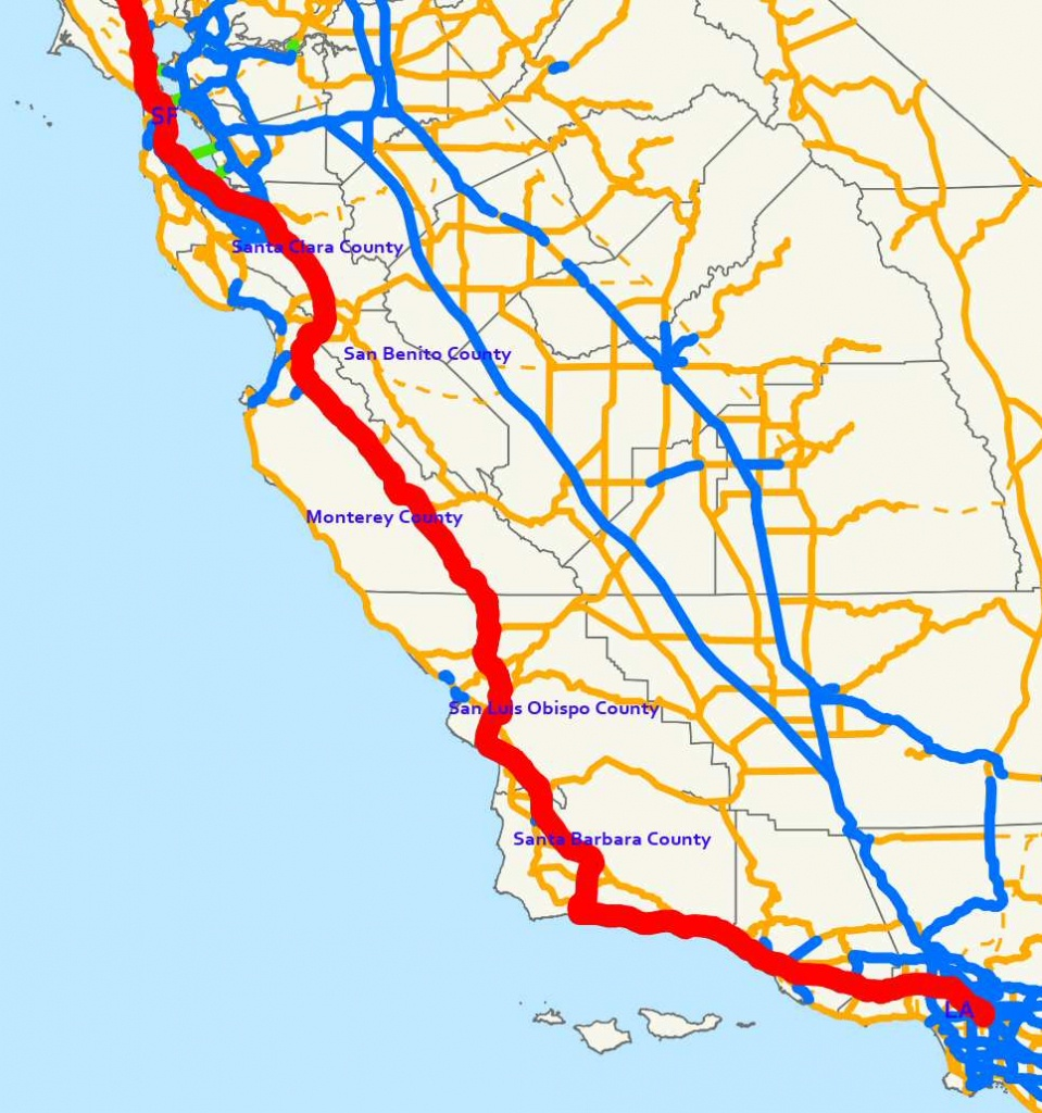 Traveling Highway 101 - A Road Trip Through Central California - California Scenic Highway Map