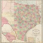 Traveller's Map Of The State Of Texas Compiled From The Records Of   Texas Maps For Sale