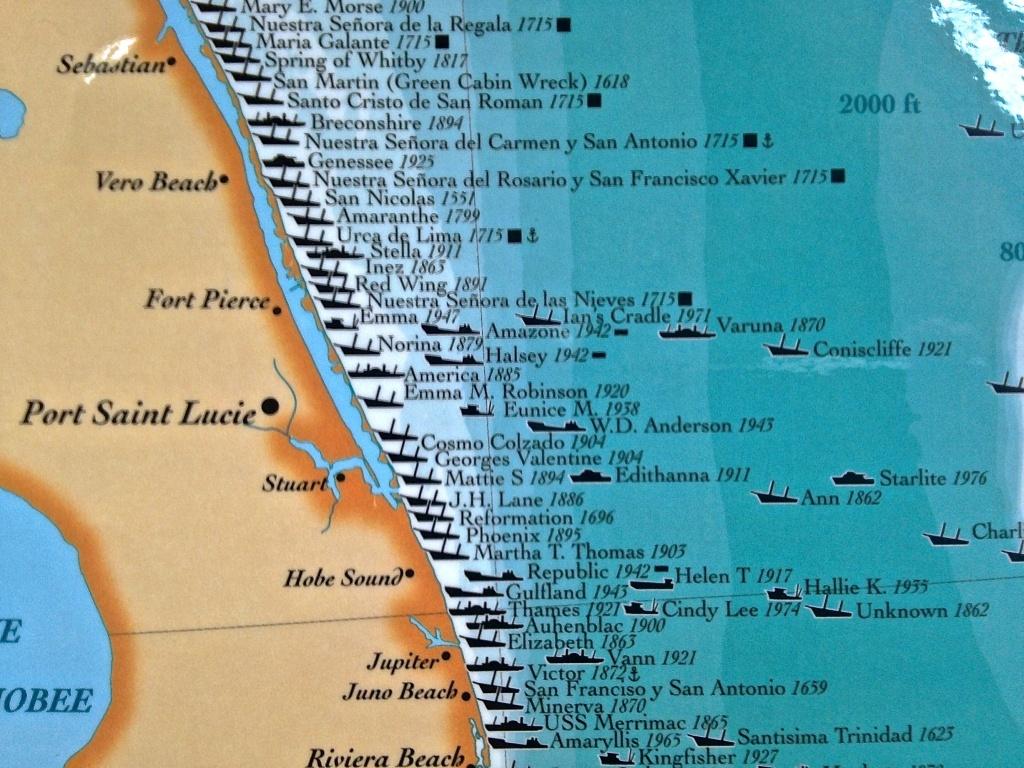 Treasure Coast Ships Map | Jacqui Thurlow-Lippisch - Treasure Coast Florida Map