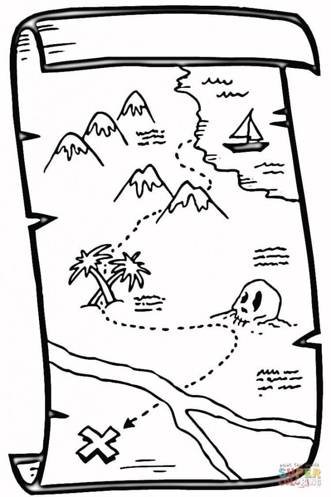 Treasure Map Coloring Page | Free Printable Coloring Pages - Printable Treasure Map Coloring Page