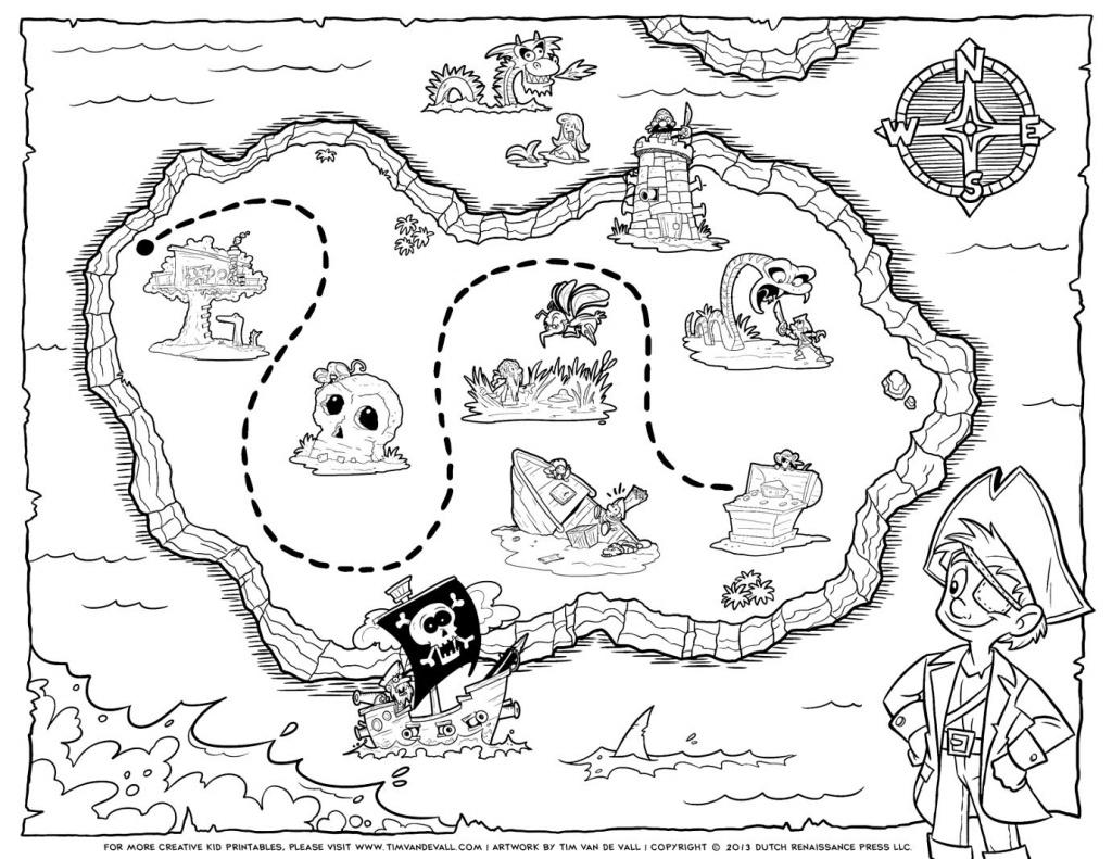 Treasure Map Coloring Pages Pirate Treasure Map Coloring Pages Free - Printable Treasure Map