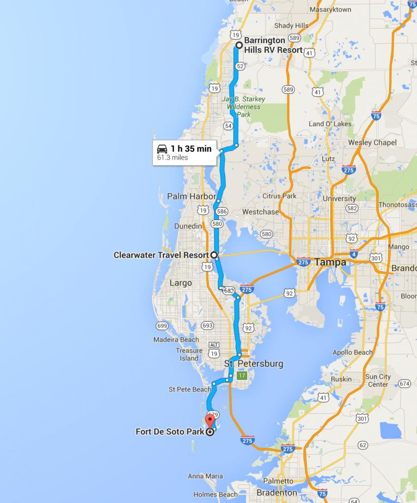 Trials And Tribulations Of Getting A Spot At Fort De Soto Park - Florida Tent Camping Map