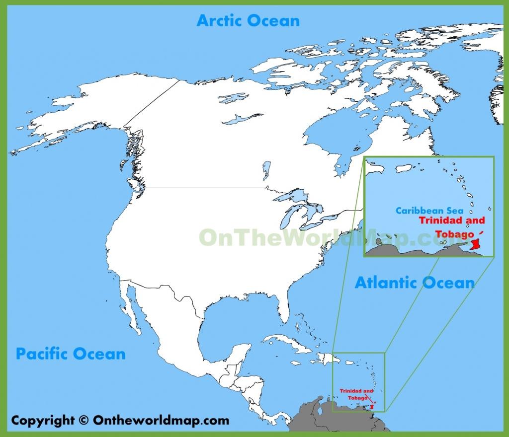 Trinidad And Tobago Location On The North America Map - Trinidad California Map