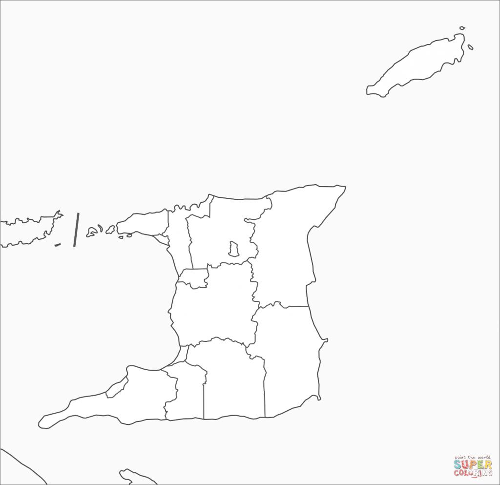 Trinidad And Tobago Map Coloring Page   Free Printable Coloring Pages - Printable Map Of Trinidad And Tobago