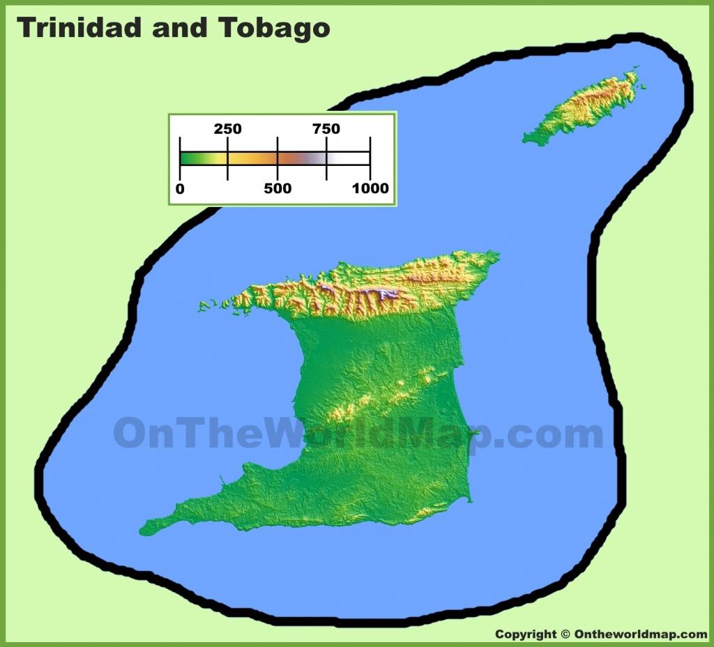 Trinidad And Tobago Maps   Maps Of Trinidad And Tobago - Printable Map Of Trinidad And Tobago