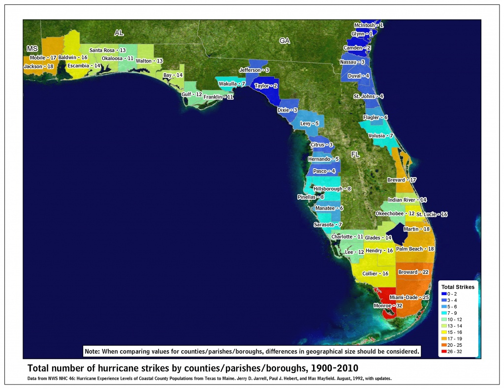 Tropical Cyclone Climatology - Florida Hurricane Damage Map