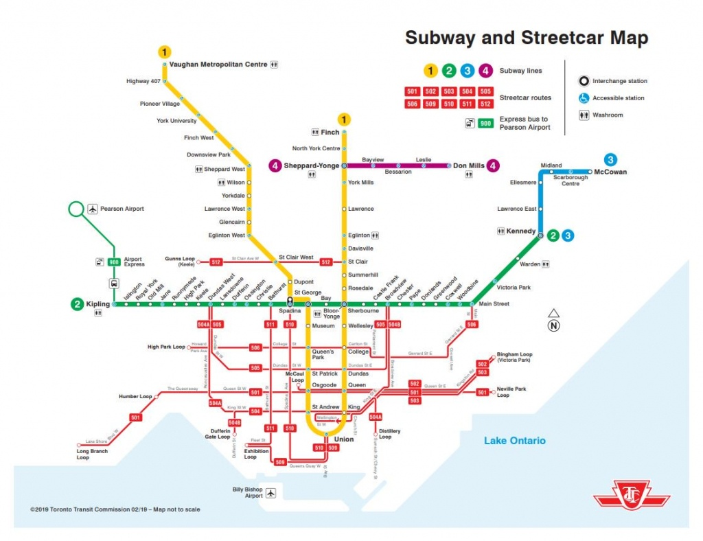 "Ttc Design On Twitter: ""a Printable Version Of Our New Subway And - Toronto Subway Map Printable"