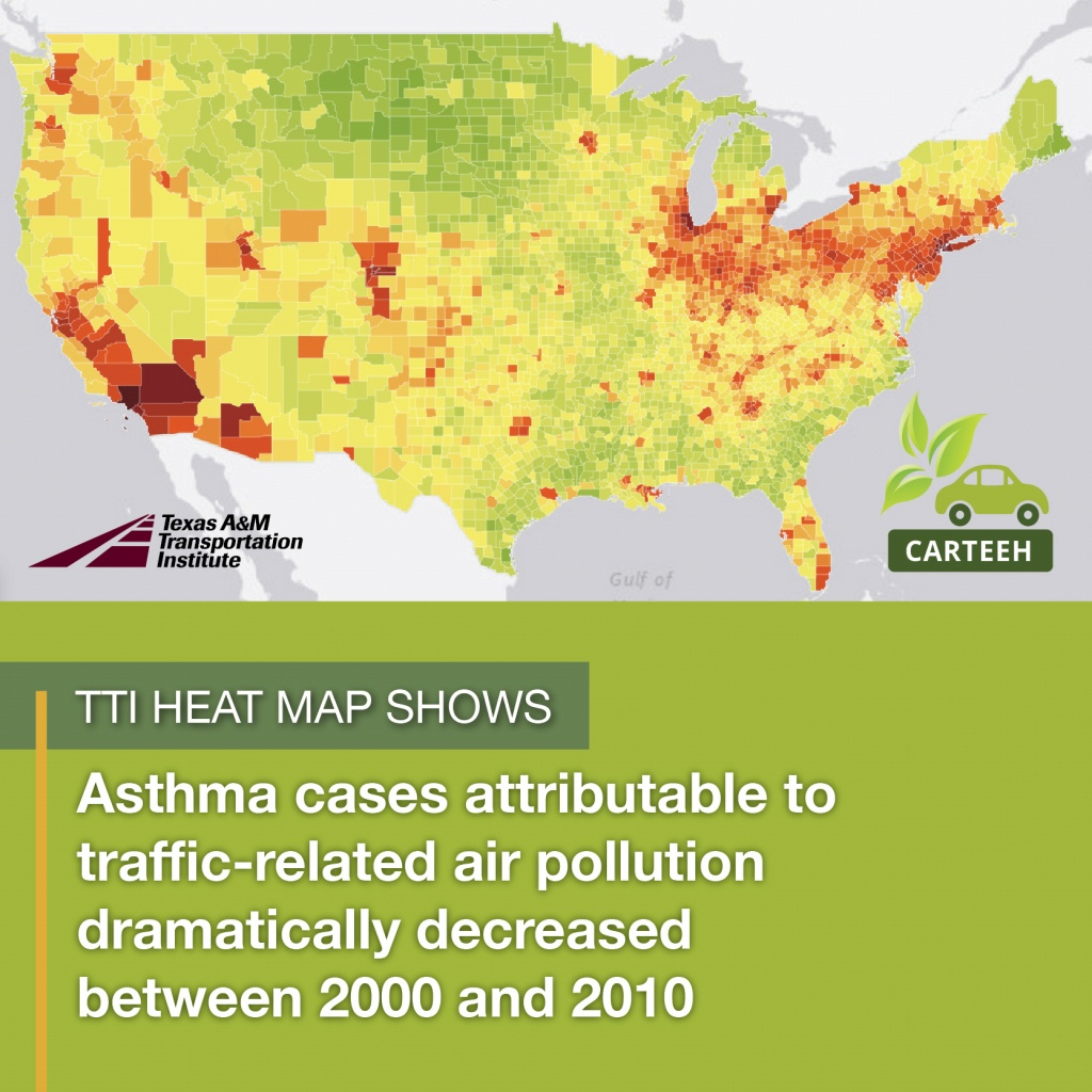 Tti Creates New Heat Map Showing Relationship Between Traffic - Texas Population Heat Map
