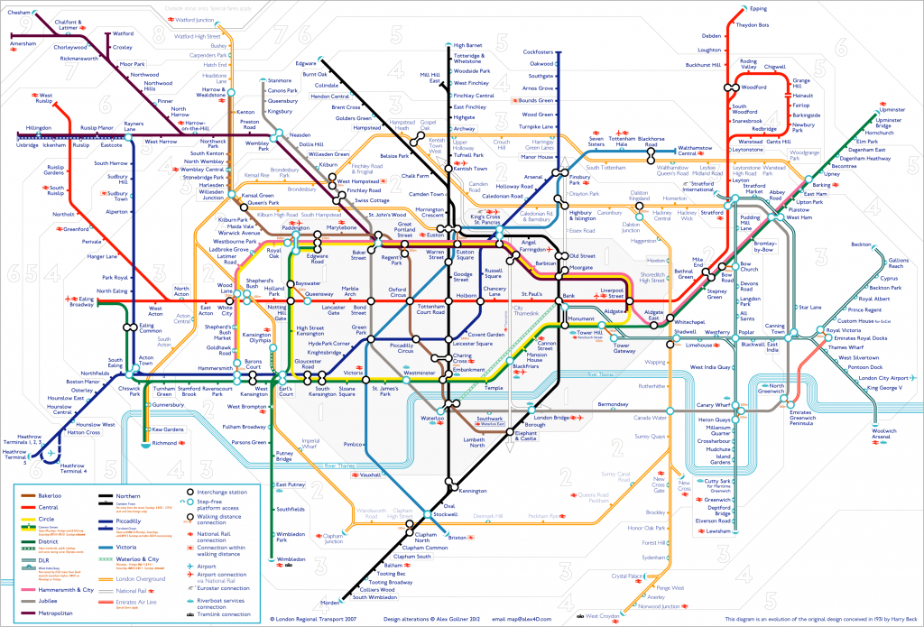 Tube Map | Alex4D Old Blog - Printable Tube Map