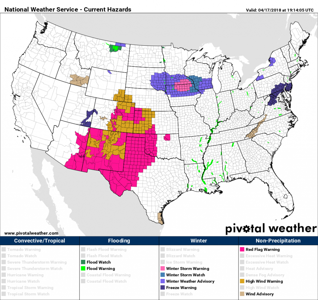 Tuesday Pm Update: Wind And High Fire Danger Today, Late Week Storm - Texas Active Fire Map
