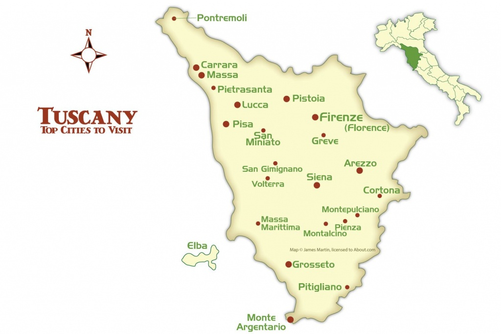 Tuscany Cities Map And Tourism Guide - Printable Map Of Tuscany