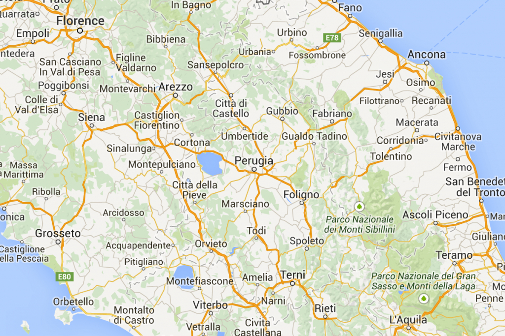 Tuscany & Umbria - Driving - Map | Italy In 2019 | Tuscany Map - Printable Map Of Tuscany
