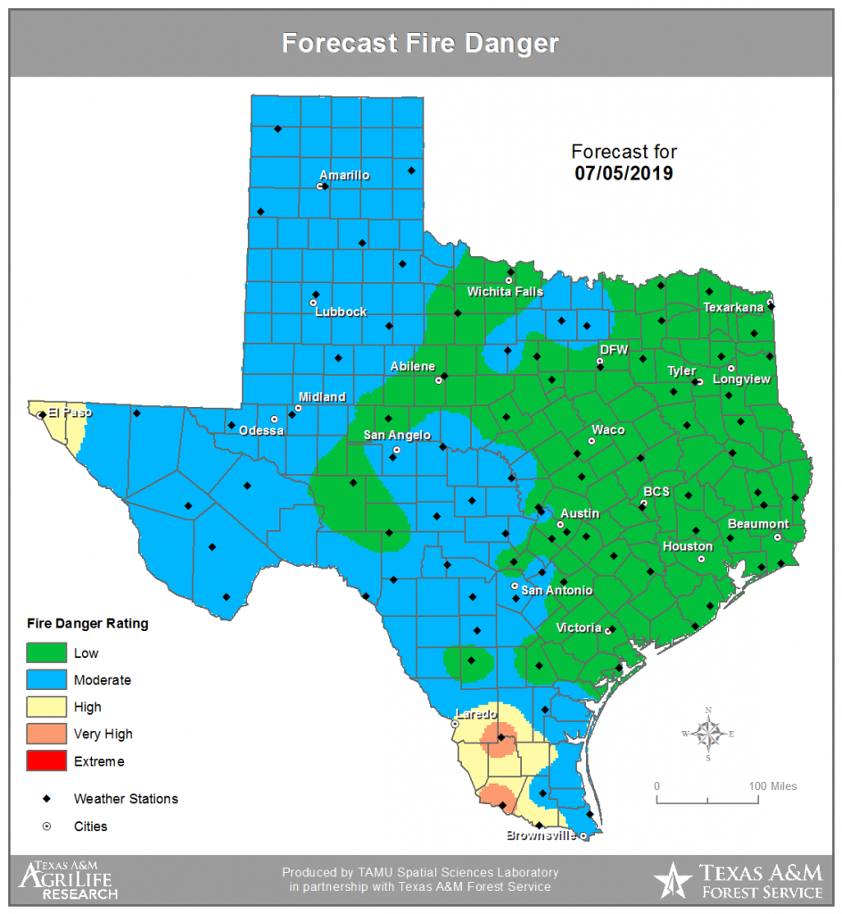 Twc | Texas Fire Danger (Tfd) - Texas Fire Map