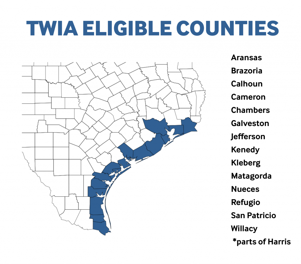 Twia - Office Of Public Insurance Counsel - Texas Windstorm Map Harris County