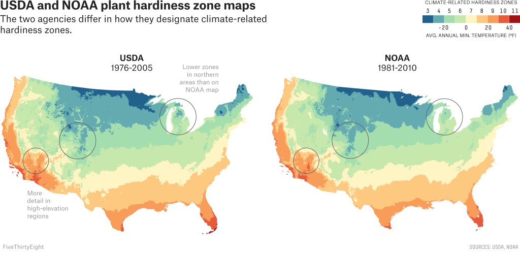 Two Government Agencies. Two Different Climate Maps. | Fivethirtyeight - Texas Hardiness Zone Map