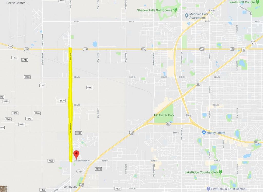 Txdot Project Will Rebuild Part Of Fm 179 To Make 5-Lane Thoroughfare - Google Maps Lubbock Texas