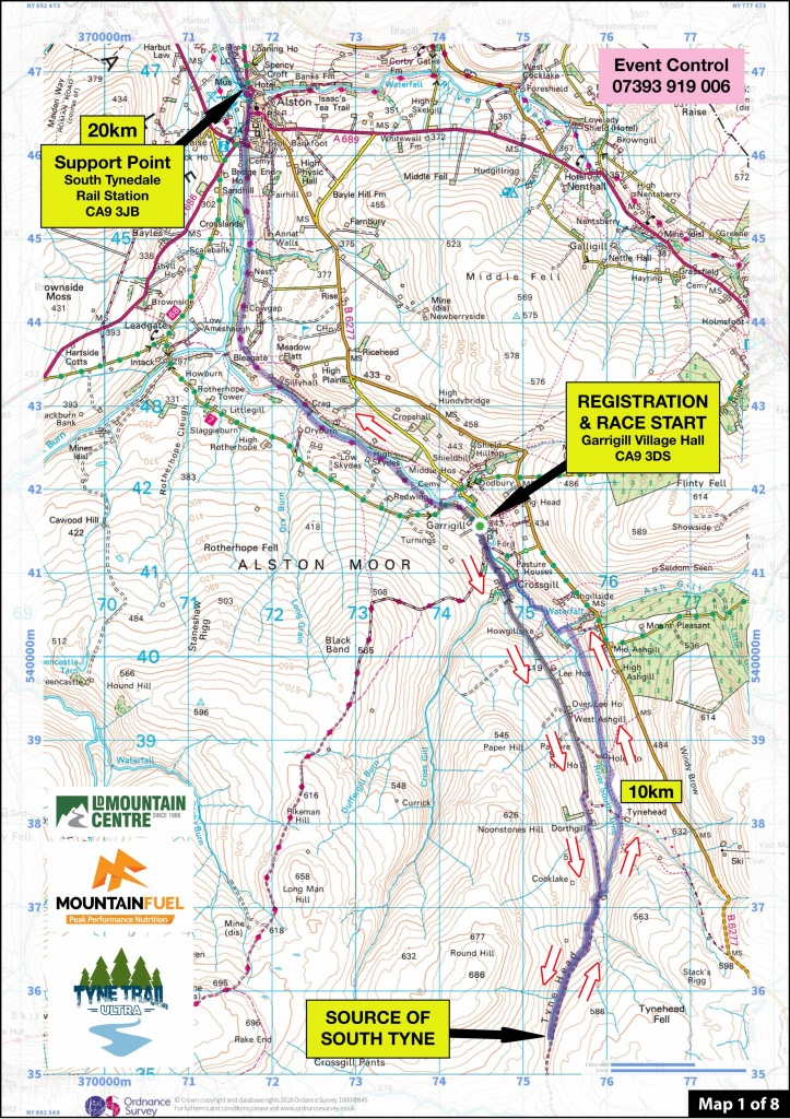 Tyne Trail Ultra | Route Maps Tyne Trail South - Printable Route Maps