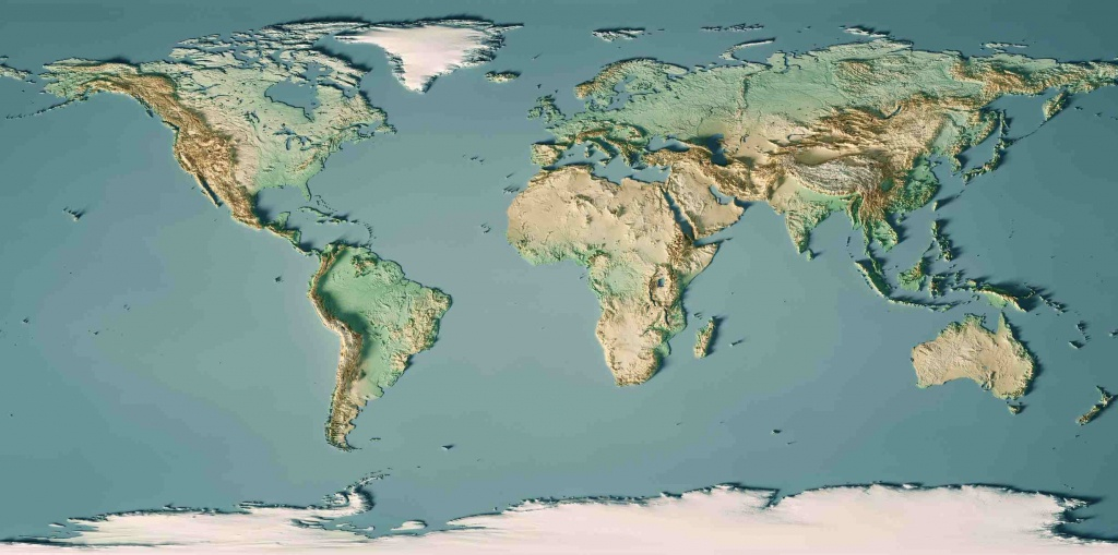 Types Of Maps: Political, Climate, Elevation, And More - Topographic World Map Printable
