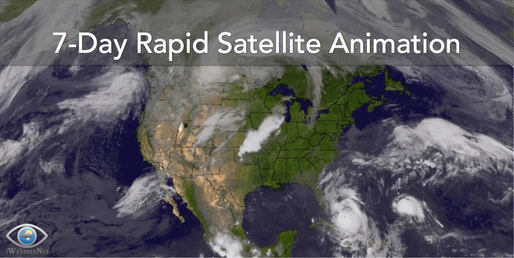 U.s. Long 7-Day Satellite Loop – Iweathernet - Texas Satellite Weather Map