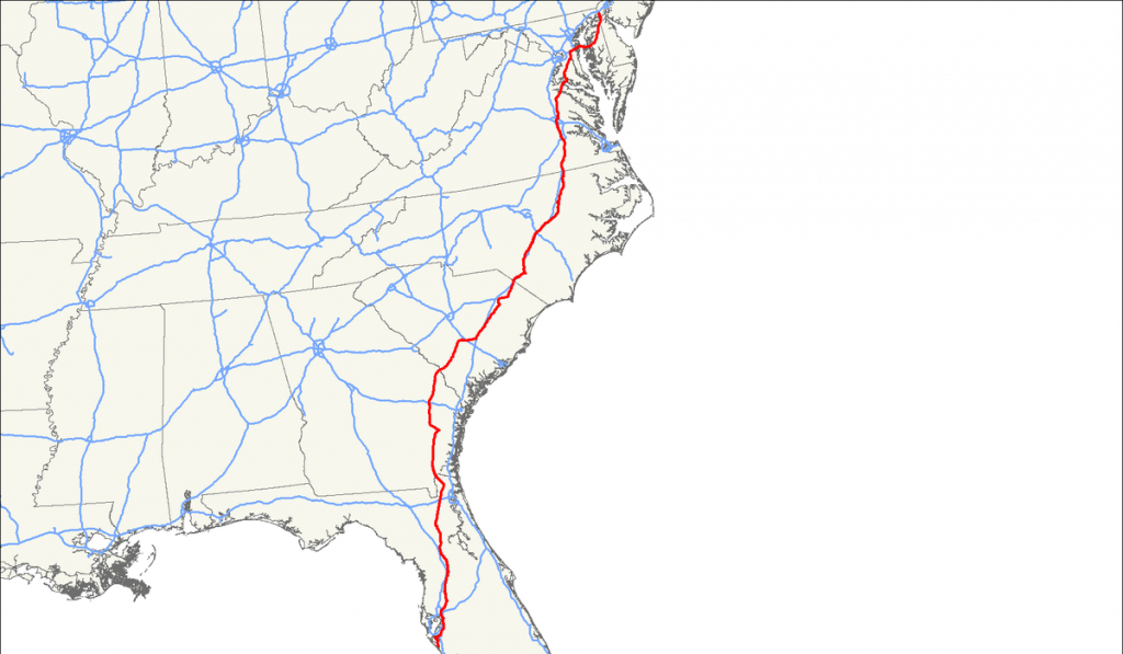 U.s. Route 301 - Wikipedia - Map Of I 95 From Nj To Florida
