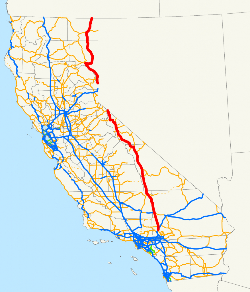 U.s. Route 395 In California - Wikipedia - California Traffic Conditions Map