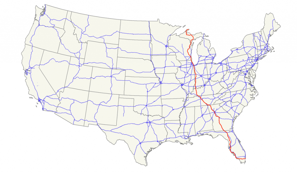 U.s. Route 41 - Wikipedia - Map From Michigan To Florida