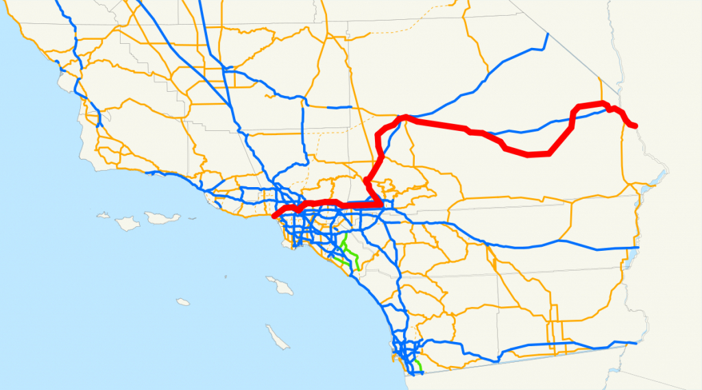 U.s. Route 66 In California - Wikipedia - Historic Route 66 California Map