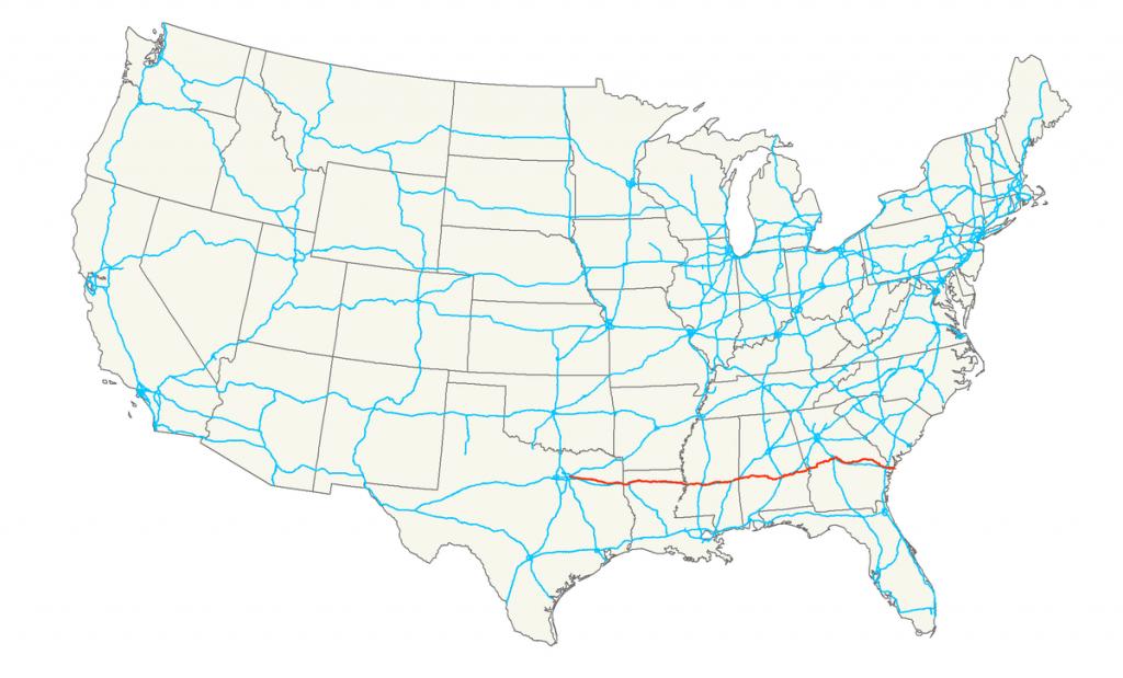 U.s. Route 80 - Wikipedia - Texas Mile Marker Map I 20