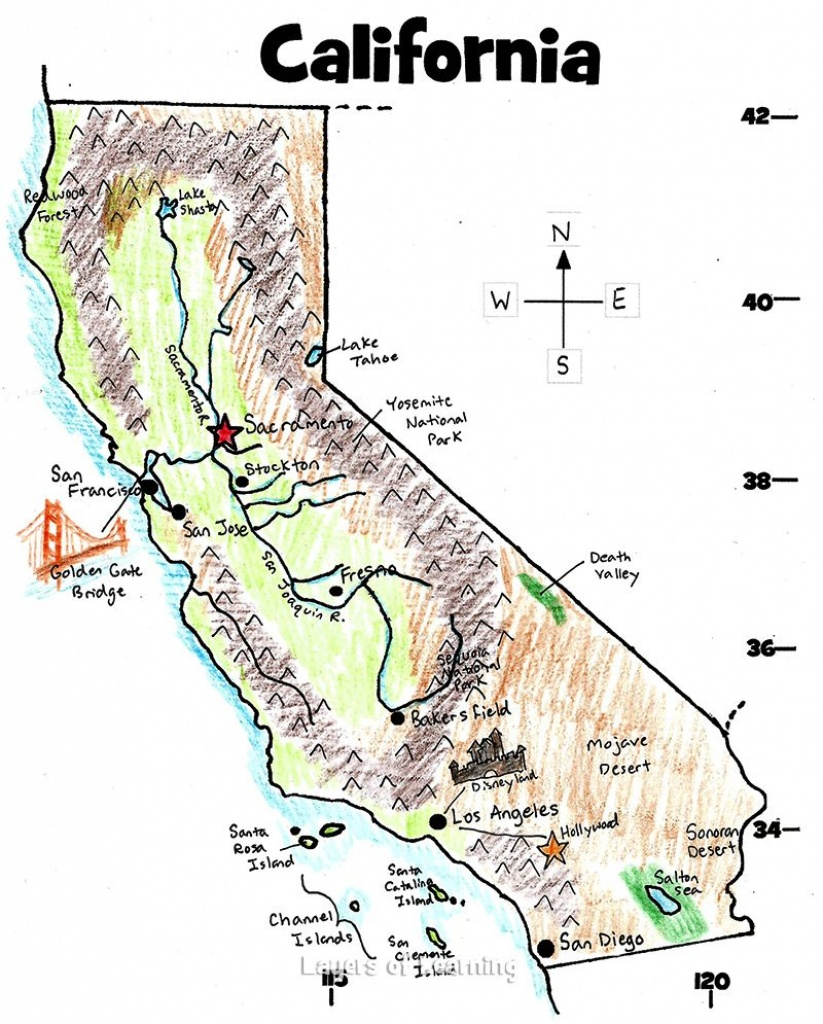 U.s. State Maps | California History | State Map, California Map - California Map For Kids