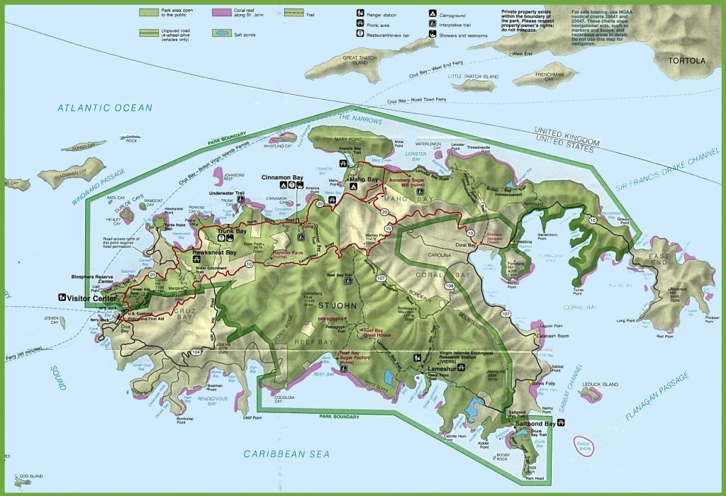 U.s. Virgin Islands Maps | Maps Of United States Virgin Islands - Printable Map Of St John Usvi