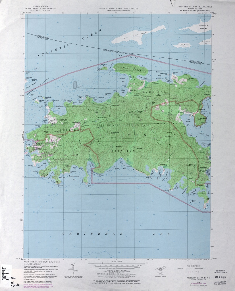 U.s. Virgin Islands Topographic Maps - Perry-Castañeda Map - Printable Map Of St John Usvi