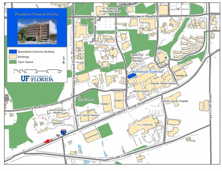Uf Campus Map Printable