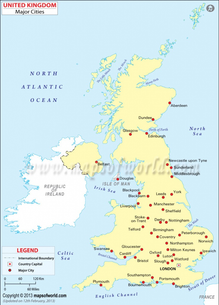 Uk Cities Map | Map Of Uk Cities | Cities In England Map - Printable Map Of Uk Towns And Cities
