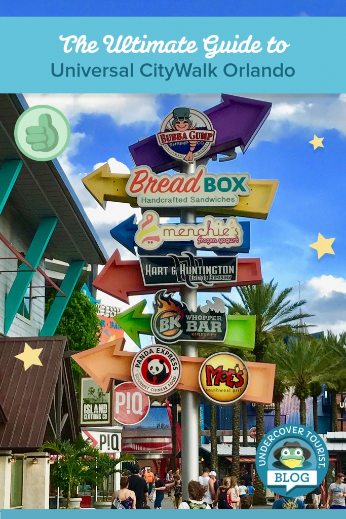 Ultimate Guide To Universal Citywalk Orlando - Universal Studios Florida Citywalk Map