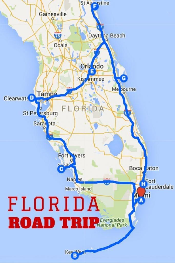 Uncover The Perfect Florida Road Trip | Florida | Road Trip Map - Florida Destinations Map