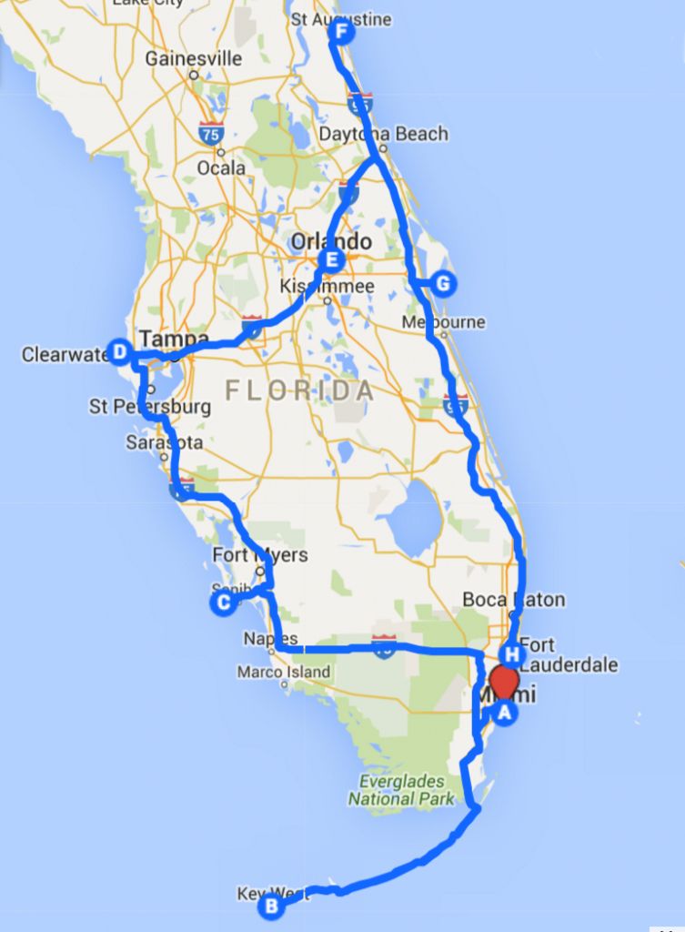 Uncover The Perfect Florida Road Trip | Roadtrip | Road Trip Florida - Road Map Florida Keys