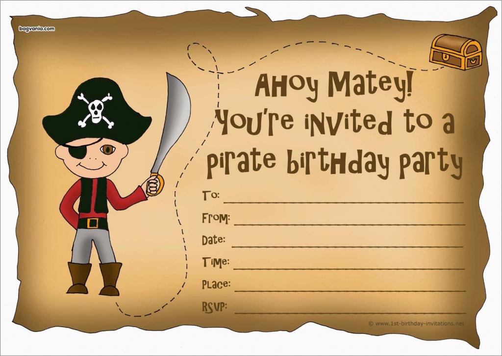 Unique Free Pirate Invitation Template | Best Of Template - Maps For Invitations Free Printable