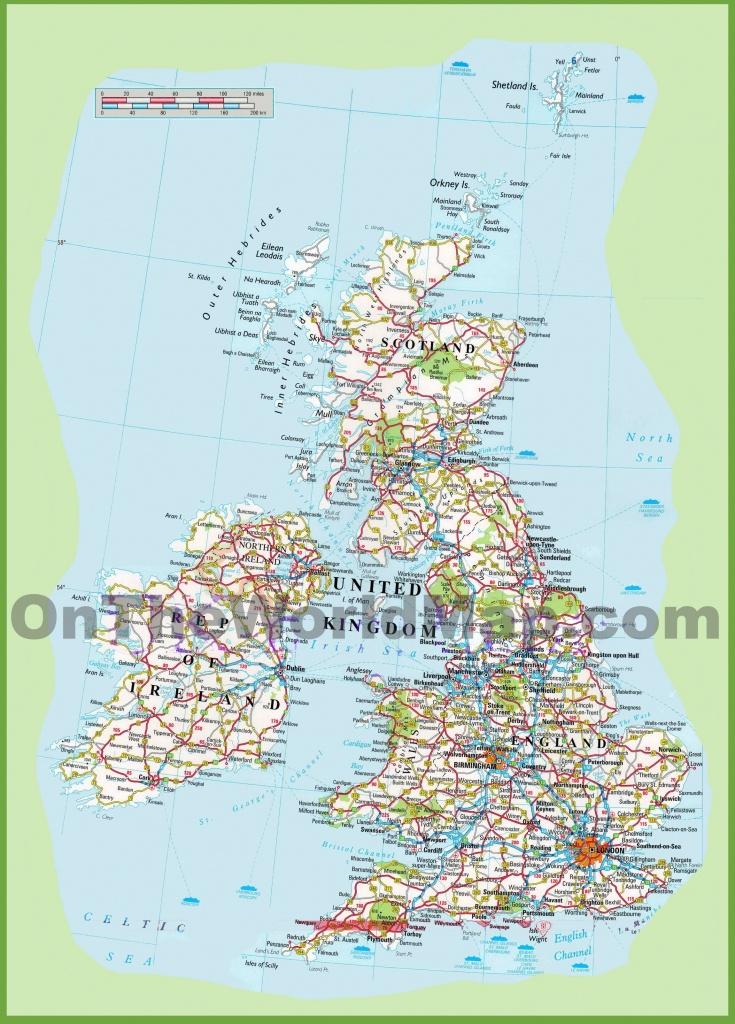 United Kingdom Road Map - Printable Road Maps Uk