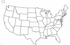 Map Of United States Outline Printable