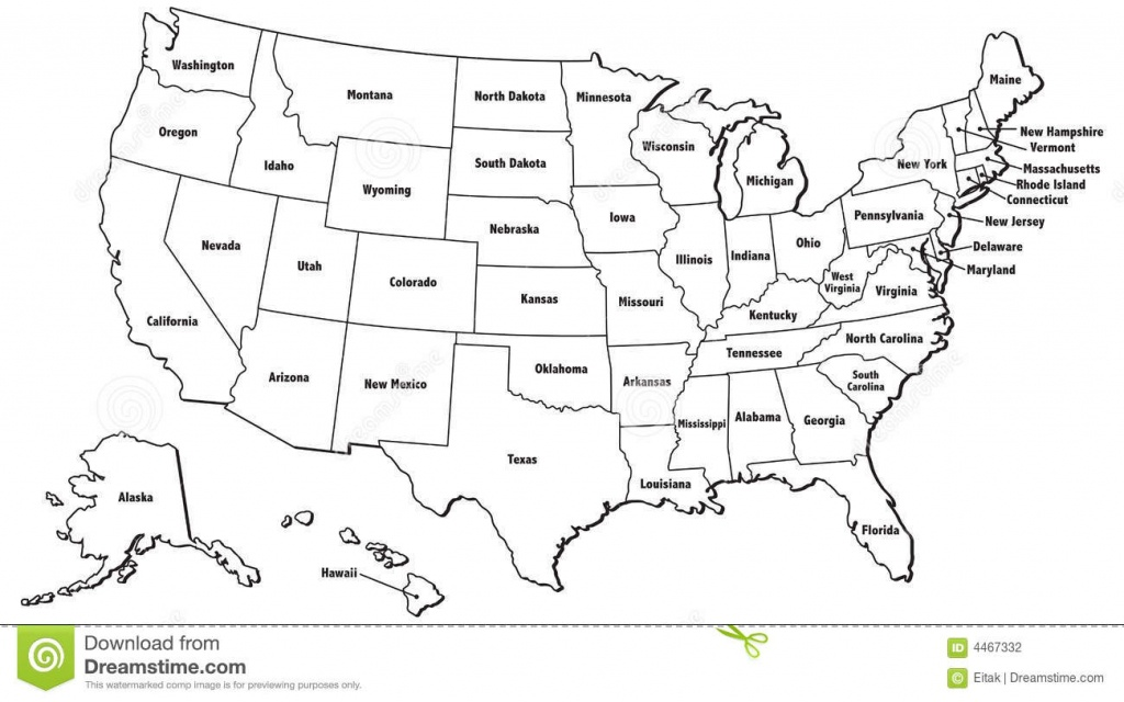 United States Map Jpg And Travel Information   Download Free United - Free Printable United States Map With State Names