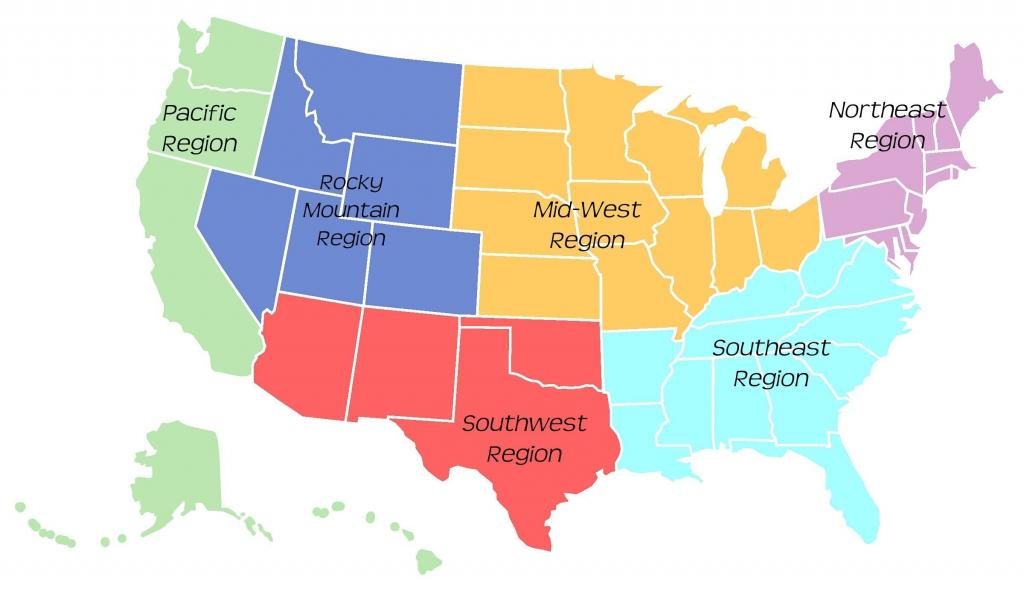 United States Map Midwest - Maplewebandpc - Southwest Region Map Printable