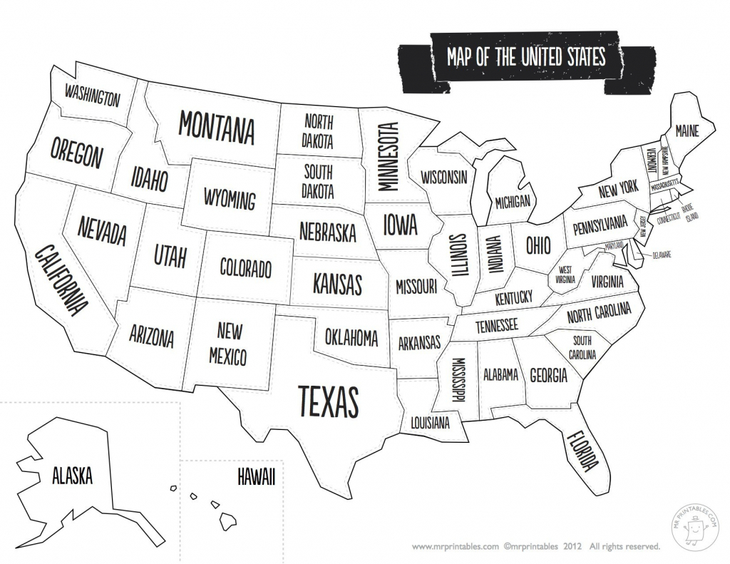 United States Map With State Names And Capitals Printable Save - Map Of United States With State Names Printable